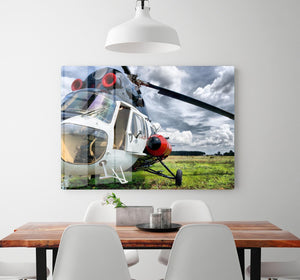 Modern light helicopter HD Metal Print