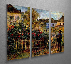Monet painting in his garden in Argenteuil Split Panel Canvas Print - Canvas Art Rocks - 4