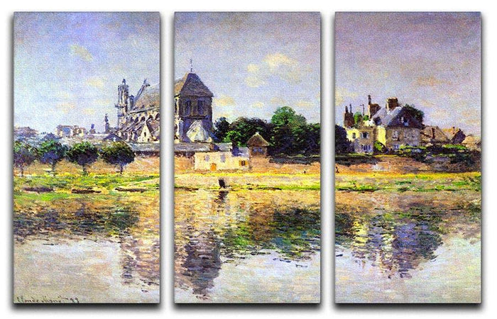 Monets garden in Vetheuil by Monet Split Panel Canvas Print