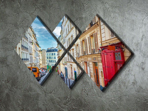 Montmartre in Paris 4 Square Multi Panel Canvas  - Canvas Art Rocks - 2