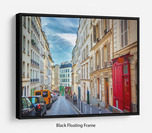 Montmartre in Paris Floating Frame Canvas