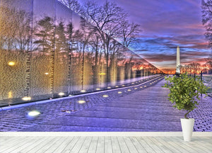 Monument at sunrise Wall Mural Wallpaper - Canvas Art Rocks - 4