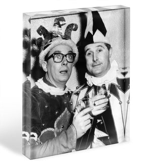 Morecambe and Wise dressed as court jesters Acrylic Block - Canvas Art Rocks - 1