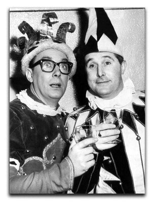 Morecambe and Wise dressed as court jesters Canvas Print or Poster  - Canvas Art Rocks - 1