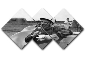 Motor racing driver Stirling Moss 4 Square Multi Panel Canvas  - Canvas Art Rocks - 1