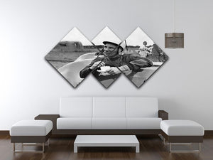 Motor racing driver Stirling Moss 4 Square Multi Panel Canvas - Canvas Art Rocks - 3