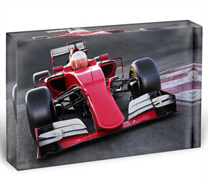 Motor sports race car Acrylic Block - Canvas Art Rocks - 1