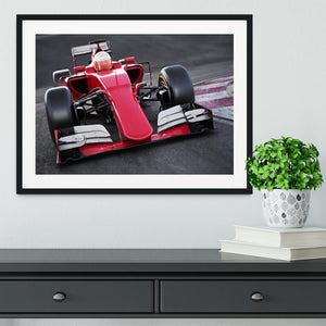 Motor sports race car Framed Print - Canvas Art Rocks - 1
