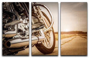 Motorbike Close Up 3 Split Panel Canvas Print - Canvas Art Rocks - 1