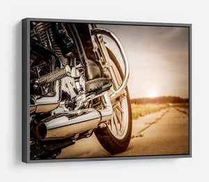 Motorbike Close Up HD Metal Print