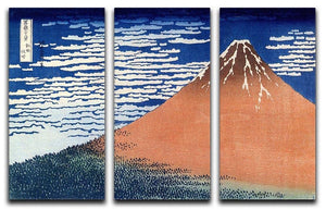 Mount Fuji by Hokusai 3 Split Panel Canvas Print - Canvas Art Rocks - 1