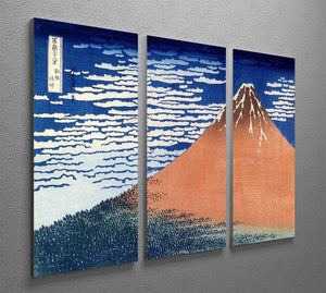 Mount Fuji by Hokusai 3 Split Panel Canvas Print - Canvas Art Rocks - 2