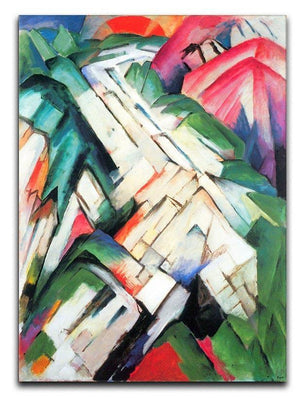 Mountains Landscape by Franz Marc Canvas Print or Poster  - Canvas Art Rocks - 1