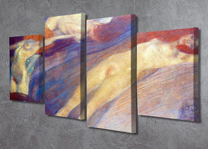 Moving water by Klimt 4 Split Panel Canvas - Canvas Art Rocks - 2