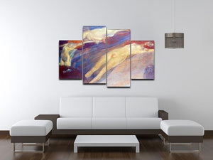 Moving water by Klimt 4 Split Panel Canvas - Canvas Art Rocks - 3