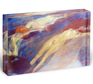 Moving water by Klimt Acrylic Block - Canvas Art Rocks - 1