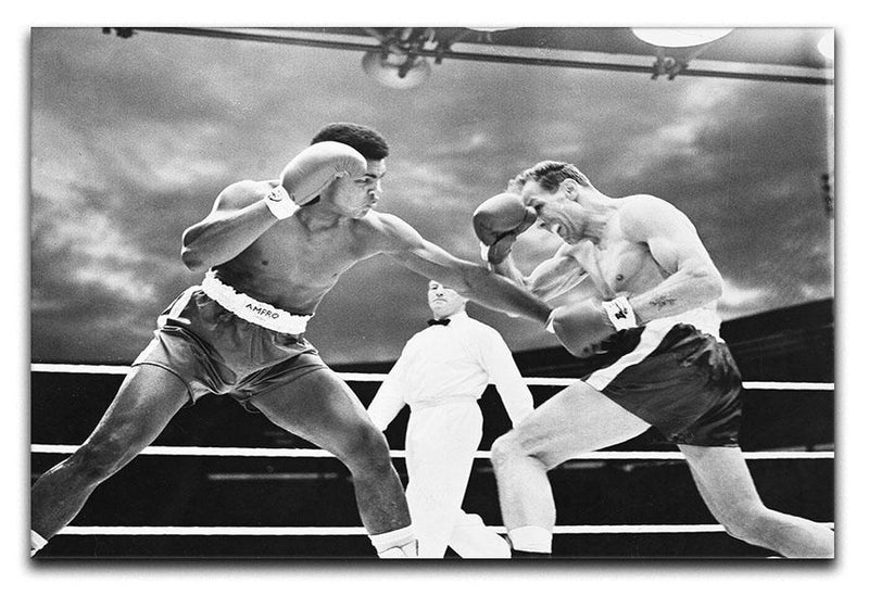 Muhammad Ali v Henry Cooper Canvas Print or Poster  - Canvas Art Rocks - 1