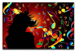Music Note Dancing Canvas Print or Poster  - Canvas Art Rocks - 1