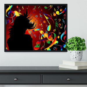 Music Note Dancing Framed Print - Canvas Art Rocks - 2
