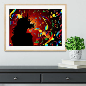 Music Note Dancing Framed Print - Canvas Art Rocks - 3