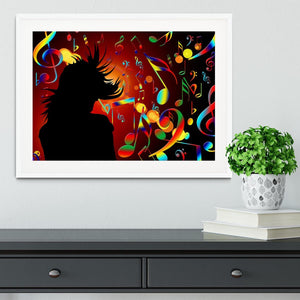 Music Note Dancing Framed Print - Canvas Art Rocks - 5