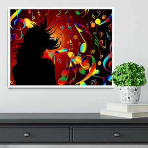 Music Note Dancing Framed Print - Canvas Art Rocks -6