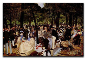 Music in Tuilerie Garden by Manet Canvas Print or Poster  - Canvas Art Rocks - 1