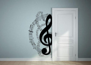 Musical Note Circle Wall Sticker - Canvas Art Rocks