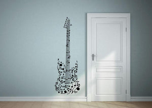Musical Note Guitar Wall Sticker - Canvas Art Rocks
