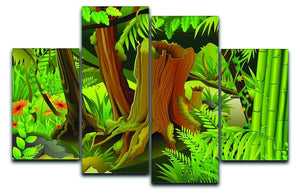 Mystic Jungle 4 Split Panel Canvas  - Canvas Art Rocks - 1