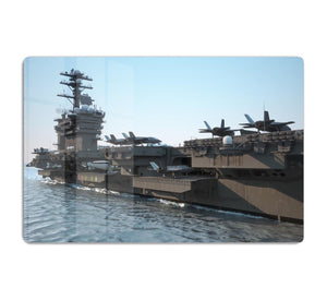 Navy aircraft carrier angled view HD Metal Print
