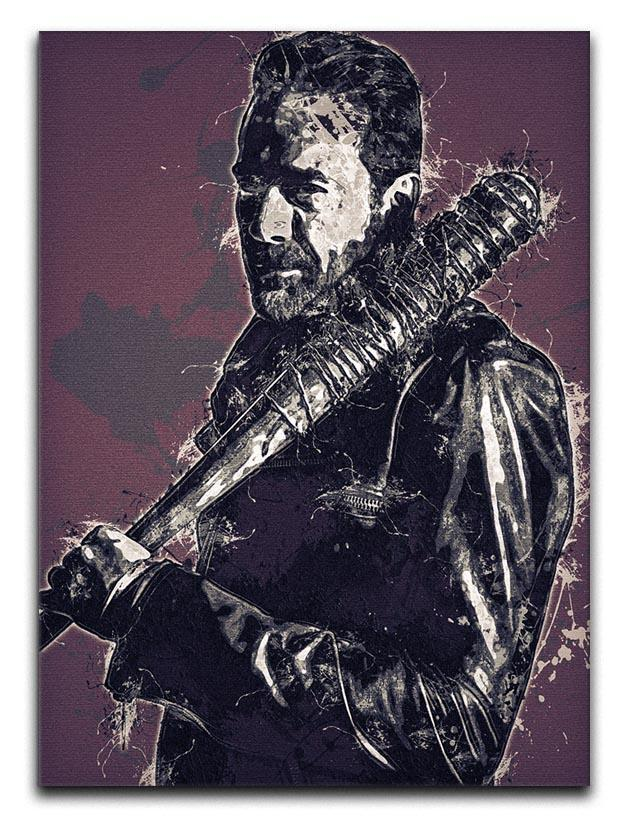 Negan Pop Art Canvas Print or Poster