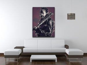 Negan Pop Art Canvas Print or Poster - Canvas Art Rocks - 4