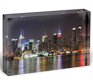 New Jersey Weehawken waterfront Acrylic Block - Canvas Art Rocks - 1