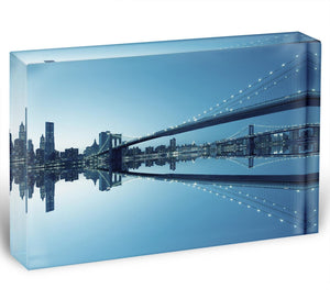 New York City Manhattan skyline panorama Acrylic Block - Canvas Art Rocks - 1