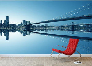 New York City Manhattan skyline panorama Wall Mural Wallpaper - Canvas Art Rocks - 2