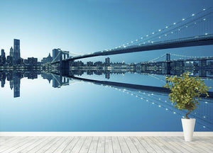 New York City Manhattan skyline panorama Wall Mural Wallpaper - Canvas Art Rocks - 4