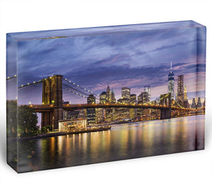 New York City at twilight Acrylic Block - Canvas Art Rocks - 1