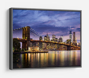 New York City at twilight HD Metal Print