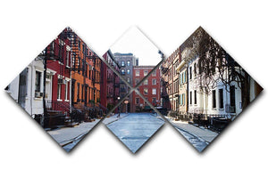 New York Historic buildings 4 Square Multi Panel Canvas  - Canvas Art Rocks - 1
