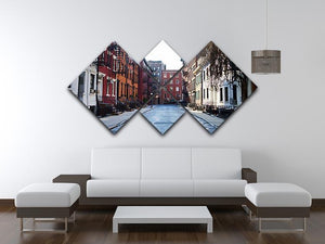 New York Historic buildings 4 Square Multi Panel Canvas  - Canvas Art Rocks - 3
