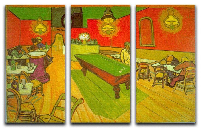 Night Cafe 2 3 Split Panel Canvas Print