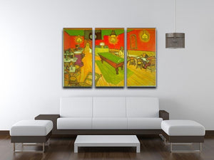 Night Cafe 2 3 Split Panel Canvas Print - Canvas Art Rocks - 4