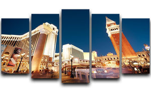 Night scenes from Las Vegas 5 Split Panel Canvas  - Canvas Art Rocks - 1