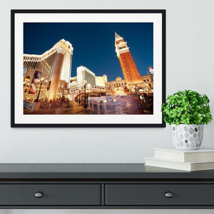 Night scenes from Las Vegas Framed Print - Canvas Art Rocks - 1