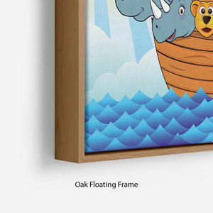 Noah Ark Floating Frame Canvas