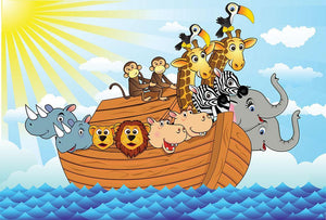 Noah Ark Wall Mural Wallpaper - Canvas Art Rocks - 1