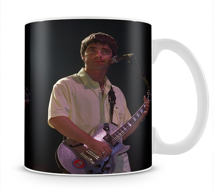 Noel Gallager of Oasis playing guitar Mug
