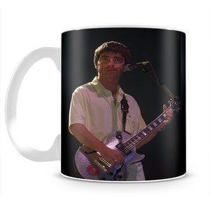 Noel Gallager of Oasis playing guitar Mug - Canvas Art Rocks - 2