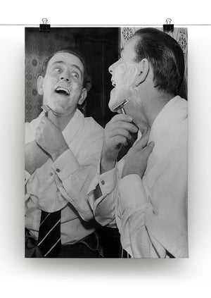 Norman Wisdom at the mirror Canvas Print or Poster - Canvas Art Rocks - 2